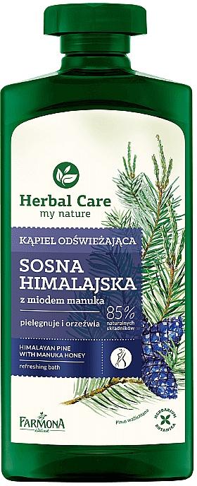 Espuma de baño refrescante con pino del Himalaya y miel de manuka - Farmona Herbal Care