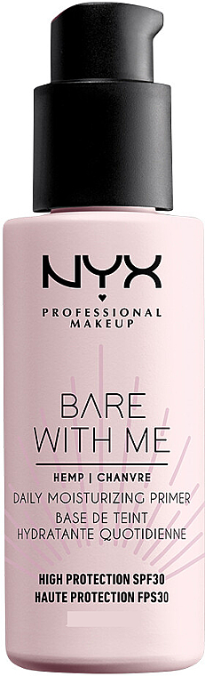Prebase de maquillaje hidratante con aceite de cáñamo, SPF30 - NYX Professional Makeup Bare With Me Hemp Deily Moisturizing Primer
