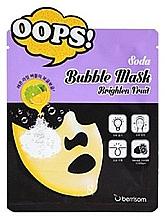 Perfumería y cosmética Mascarilla facial de tejido iluminadora con extracto de pomelo - Berrisom Soda Bubble Mask Brighten Fruit