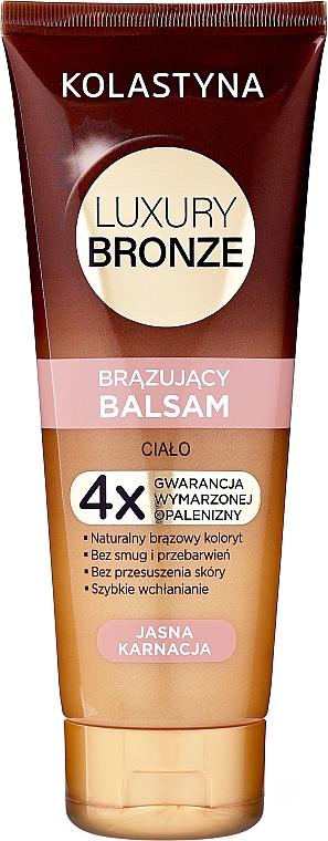 Bálsamo corporal autobronceador para pieles claras con manteca de karité - Kolastyna Luxury Bronze Balm