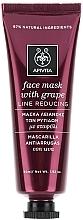 Perfumería y cosmética Mascarilla facial antiarrugas natural con extracto de uva - Apivita Moisturizing Face Mask With Grape