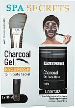 Perfumería y cosmética Set (mascarilla/140ml + brocha/1ud) - Spa Secrets Charcoal Gel Face Mask