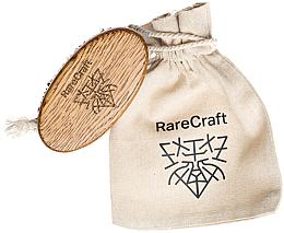 Perfumería y cosmética Cepillo para barba de madera de roble con cerdas de jabalí (11.5x6cm) - RareCraft