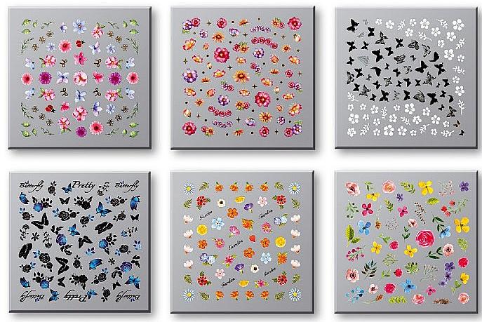Set pegatinas para uñas, 42751 - Top Choice Nail Decorations Stickers Set