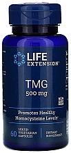 Perfumería y cosmética Complemento alimenticio en cápsulas trimetilglicina, 500 mg  - Life Extension TMG 500 mg