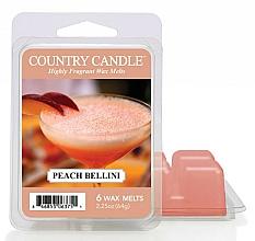 Perfumería y cosmética Cera para lámpara aromática con aroma a melocotón - Country Candle Peach Bellini Wax Melts