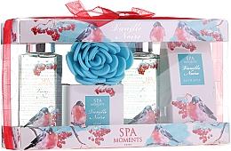 Perfumería y cosmética Set corporal - Spa Moments Vanille Noire (gel de ducha 2x100ml+sales de baño/50g+jabón/50g+esponja)