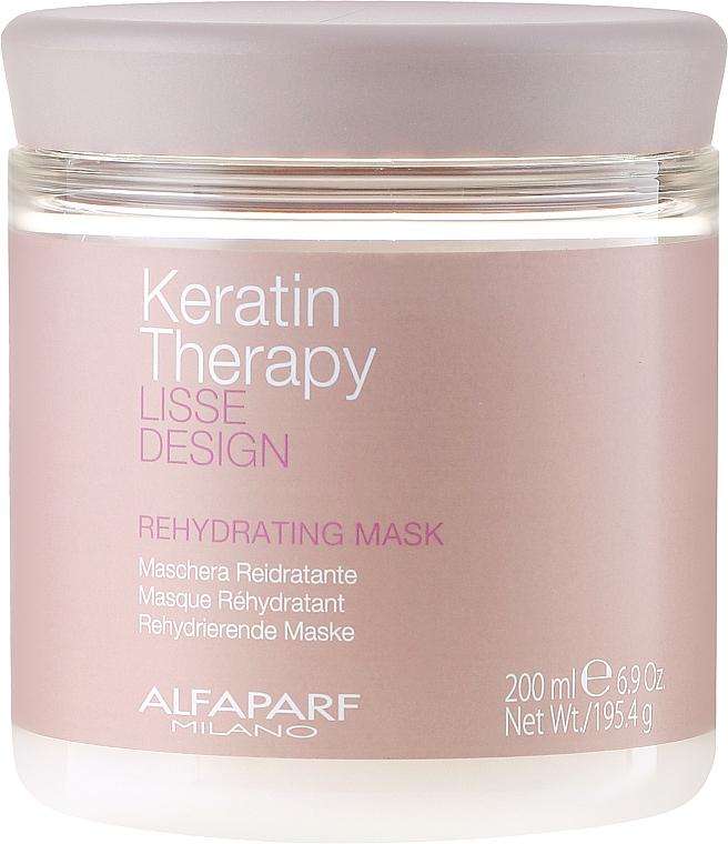 Mascarilla capilar con queratina, colágeno y aceite de babasú - Alfaparf Lisse Design Keratin Therapy Rehydrating Mask