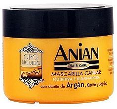 Perfumería y cosmética Mascarilla capilar iluminadora con aceite de argán, karité y jojoba - Anian Liquid Gold Hair Argan Mask