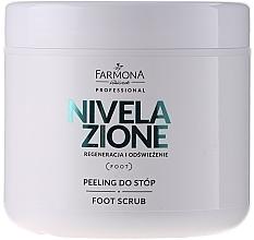 Perfumería y cosmética Exfoliante para pies con extracto de hibisco - Farmona Professional Nivelazione