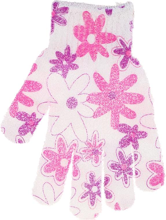 Guante de baño, 30512, blanco-rosa - Top Choice