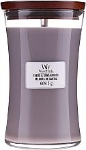 Perfumería y cosmética Vela aromática en tarro con fragancia a sándalo - WoodWick Suede & Sandalwood Candle