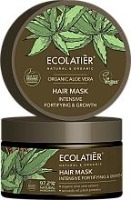 Perfumería y cosmética Mascarilla capilar natural con extracto de aloe orgánico y aceite de aguacate - Ecolatier Organic Aloe Vera Hair Mask