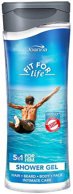 Gel de ducha y champú 5 en 1 - Joanna Fit For Life 5in1 Shower Gel For All Body Odour Stoper For Men