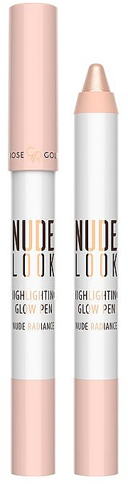 Iluminador de maquillaje lápiz - Golden Rose Nude Look Highlighting Glow Pen