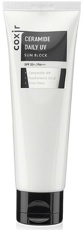 Crema solar con ceramidas, ácido hialurónico y aloe - Coxir Ceramide Daily UV Sun Block