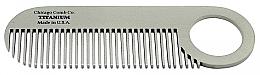 Perfumería y cosmética Peine de titanio americano puro para hombres, No.2 - Chicago Comb Co Model No.2 Titanium