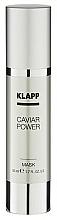 Perfumería y cosmética Mascarilla facial con extracto de caviar y aceite de almendras - Klapp Caviar Power Mask