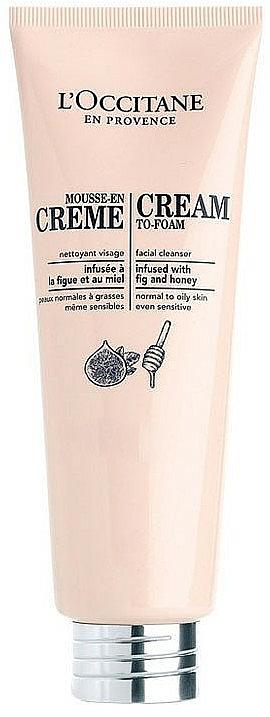 Crema mousse facial con miel y extracto de higo - L'Occitane Cleansing Cream-To-Foam