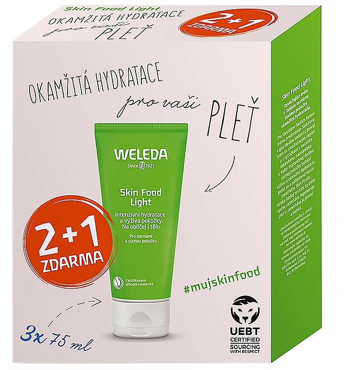 Set - Weleda Skin Food Light Multipack (crema para rostro y cuerpo 3x75ml)