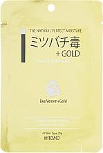 Perfumería y cosmética Mascarilla facial de tejido con veneno de abeja y oro - Mitomo Essence Sheet Mask Bee Venom + Gold