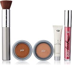 Perfumería y cosmética Pur Minerals Best Sellers Starter Kit Blush Medium - Set de maquillaje (prebase/10ml+ base de maquillaje/4.3g+ bronceador/3.4g+ máscara/5g+ brocha)