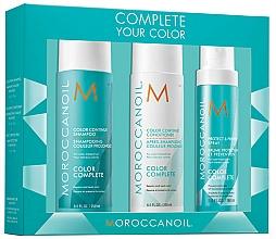 Perfumería y cosmética Set para cabello (champú/250ml + acondicionador/250ml + spray/160ml) - Moroccanoil Color Complete
