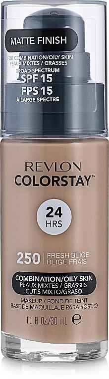 Base de maquillaje líquida mate de cobertura media a completa y larga duración para pieles grasas y mixtas - Revlon ColorStay for Combination/Oily Skin SPF 15