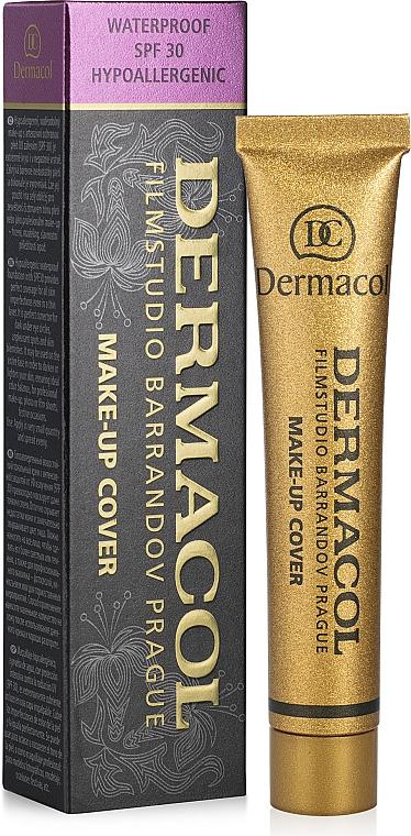 Base de maquillaje antiimperfecciones de alta cobertura, resistente al agua SPF 30 - Dermacol Make-Up Cover