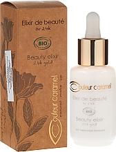 Perfumería y cosmética Elixir facial eco con oro 24K, aceite de jojoba y argán - Couleur Caramel Elixir De Beaute Oro 24K