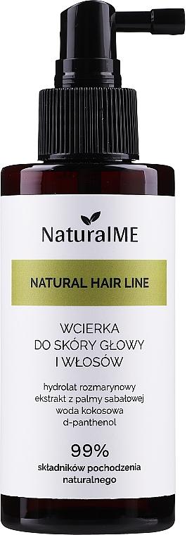 Loción estimuladora de crecimiento de cabello con ingredientes naturales - NaturalME Natural Hair Line Lotion