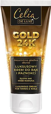 Crema de manos y uñas con oro de 24K y miel de manuka - Celia De Luxe Gold 24K Luxurious Hand & Nail Cream
