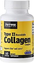 Perfumería y cosmética Complemento alimenticio en cápsulas, colágeno tipo 2 para las articulaciones, 60 cáp. - Jarrow Formulas Type II Collagen Complex 1000 mg