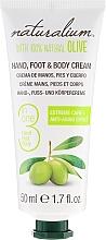 Perfumería y cosmética Crema de manos, pies y cuerpo con aceite de oliva - Naturalium Hand, Foot & Body Cream