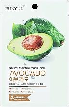 Perfumería y cosmética Mascarilla facial natural de tejido con aceite de aguacate - Eunyul Natural Moisture Mask Pack Avocado