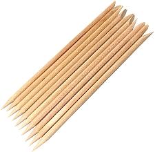 Perfumería y cosmética Palitos empujacutículas de madera, 10uds. - Kabos
