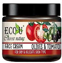Perfumería y cosmética Crema facial con extracto de oliva y tomate - Eco U Face Cream