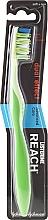 Perfumería y cosmética Cepillo dental blando de doble acción, verde-blanco - Listerine Reach Dual Effect Soft