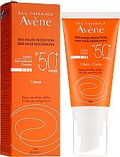 Perfumería y cosmética Crema protectora solar para rostro y cuello con agua termal de Avéne, SPF 50+ - Avene Eau Thermale Sun Cream SPF50