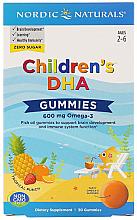 Perfumería y cosmética Complemento alimenticio Omega-3 para niños, 600 mg - Nordic Naturals Children's DHA Gummies