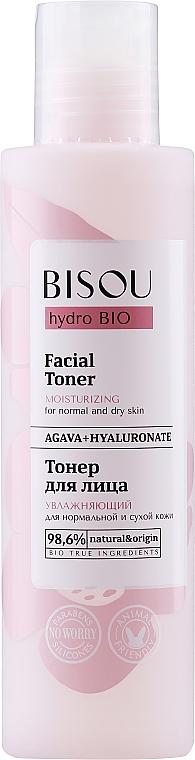 Tónico facial hidratante con ácido hialurónico y extracto de agave - Bisou Hydro Bio Facial Toner