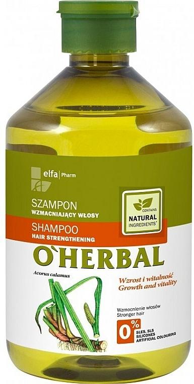 Champú nutritivo con extracto de raíz de cálamo - O'Herbal