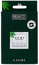 Perfumería y cosmética Parches de gel para contorno de ojos con aceite orgánico de cáñamo - Beauty Formulas Hemp Beauty Eye Gel Patches