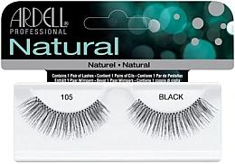 Perfumería y cosmética Pestañas postizas - Ardell Natural Lashes Black 105