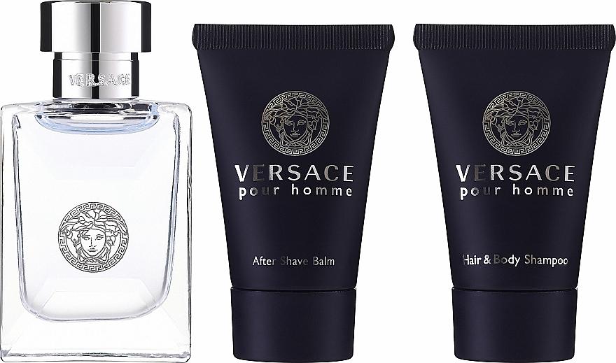 Versace Versace Pour Homme - Set (eau de toilette/5ml + gel de ducha/25ml + bálsamo aftershave/25ml) — imagen N2