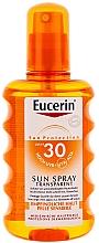 Perfumería y cosmética Spray corporal de protección solar resistente al agua, pieles sensibles, SPF 30 - Eucerin Sun Spray Transparent SPF 30