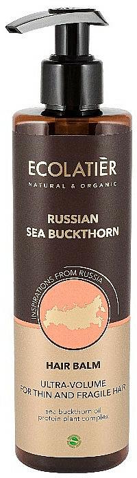 Bálsamo con aceite de espino amarillo de Rusia - Ecolatier Russian Sea Buckthorn Hair Balm