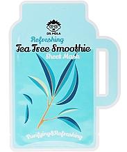 Perfumería y cosmética Mascarilla facial de tejido con extracto de árbol de té - Dr. Mola Refreshing Tea Tree Smoothie Sheet Mask
