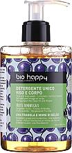 Perfumería y cosmética Gel limpiador para rostro y cuerpo con fresas, uvas y moras - Bio Happy Strawberry, Grape And Mulberries Face & Body Wash