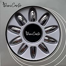Perfumería y cosmética Uñas postizas, efecto espejo, 42407, color antracita - Deni Carte